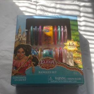 Disney Elena bangle bracelets set